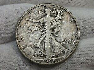 VF/XF 1929-d Walking LIBERTY Half Dollar.  #43