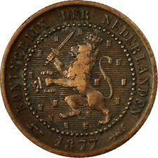 [#533179] Munten, Nederland, William III, Cent, 1877, ZF, Bronze, KM:107.1