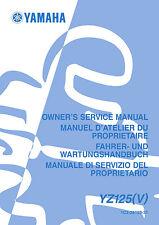Yamaha YZ125 V 2006 Owners Service Manual, FREE SHIPPING