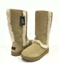 UGG SUNDANCE WOMEN'S BOOTS WATERPROOF SAND SUEDE / SHEEPSKIN -US SIZE 7 -NEW