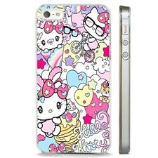 Hello Kitty Colourful Magical CLEAR PHONE CASE COVER fits iPHONE 5 6 7 8 X