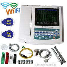 WIFI Touch 12 Channel ECG Machine EKG Electrocardiagraph Software+Interpretation