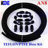 AN8 -8 AN PTFE Teflon Oil Gas Line E85 Fuel Hose End Fitting adapter AN-8 20 FT