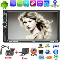 """7"""" in Car Stereo Radio Mp5 Player Touch Screen Bluetooth FM Radio 2Din W/ Camera"""