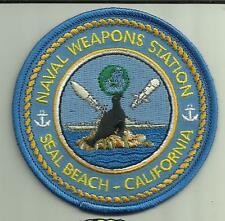 NAVAL WEAPONS STATION SEAL BEACH CALIFORNIA U.S.NAVY PATCH MISSILES NUKE SAILOR