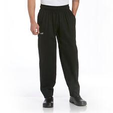 Chefwear Cw3000-30 5X Black Baggy Chef Pants 100% Cotton Twill