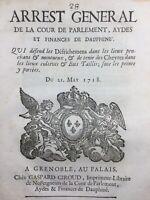 Élevage de Chèvres 1718 Capridé Grenoble Dauphiné Giroud Parlement du Dauphiné