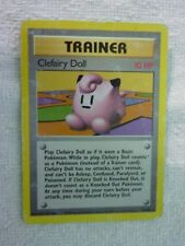 Carte pokémon trainer clefairy doll 70/102 rare set de base carte anglaise usée