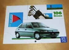 PEUGEOT 106 GREEN SPECIAL EDITION SALES BROCHURE FEB 1995 IN DUTCH Golf theme