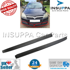 Front Bumper Spoiler Extension Set L&R For Opel Astra H Vauxhall MK5 1400561