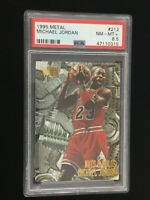 1995 FLEER METAL MICHAEL JORDAN Nut & Bolts Card #212 PSA 8.5 NM-MT+