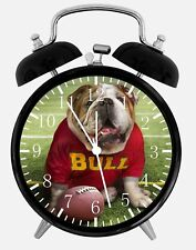 "Bull Dog Football Alarm Desk Clock 3.75"" Home or Office Decor F03 Nice Gift"
