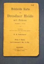 Meinholds Karte der Dresdner Heide mit Führer um 1910 Maßstab 1: 18000 js