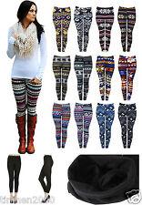 New Ladies Warm Thick Soft Fleece Inside Full Length Leggings Winter Pant 8-18