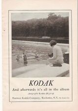 1920 VINTAGE AD KODAK and afterwards it's in the album