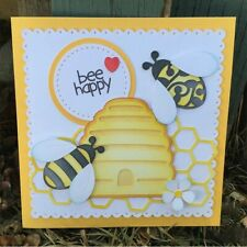 Bee's and Hive Bee die cutters Stencil Metal cutting Dies Scrap booking Cards