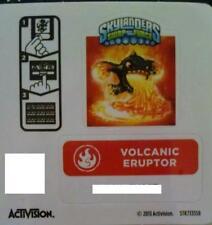 Volcanic Eruptor Skylanders Swap Force Sticker/Code Only!