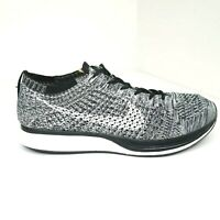 Nike Flyknit Racer 'Oreo' Mens Black/White Trainers Shoes US 8 526628-012