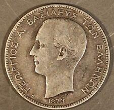 1873A Greece Silver 2 Drachmai * Free U.S. Shipping *