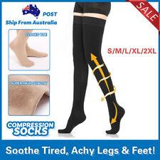 Medical Compression Stockings Thigh High DVT Varicose Sock Support Travel Flight