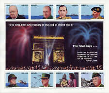 Ghana 1995 MNH WWII WW2 VE Day End Word War II 8v M/S Churchill Patton Stamps
