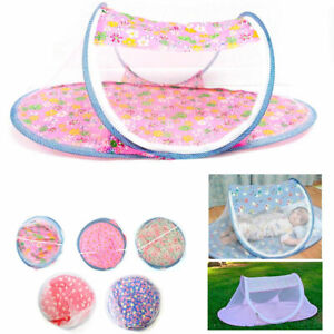 1 Portable Foldable Baby Mosquito Tent Travel Infant Bed Net Instant Crib New !