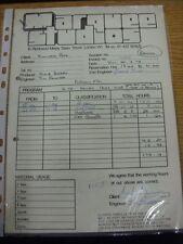 26/02/1978 Fulham: Marquee Studios-una ricevuta & Copia Carbone, per l'uso del