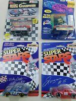 Matchbox & Racing Champions 1:64 NASCAR Lot Of  4 Die Cast Diecast Vintage