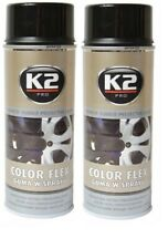 2 X K2 COLOR FLEX GLOSS BLACK PLASTI DIP RUBBER PAINT SPRAY CAN AEROSOL - 400ml