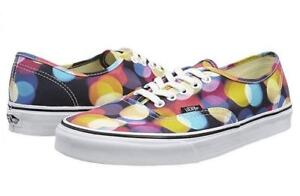 VANS Flashing Lights Circles Dots Low Ox Canvas Fashion Unisex Shoes DISC HTF
