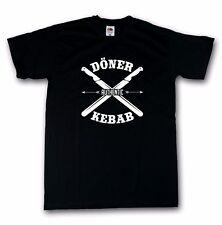 Döner Kebab T-Shirt Pizza Imbiss Fastfood Funshirt schwarz S-5XL 100% Cotton