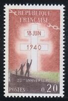 France 1960 MNH Mi 1315 Sc 967 Lorraine Cross.French Resistance.WW2 **