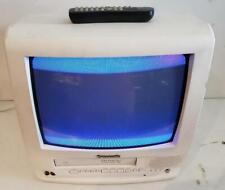 "Panasonic 14"" CRT TV VCR Combo PV-C1332W White 2002 Retro Gaming"