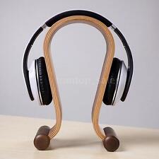 Headphone Stand Holder Gaming Headset Dispaly Shelf Wooden Walnut Wood Brand New