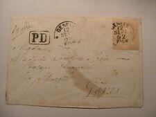 Switzerland cover 1862; 20 Rappen; GENEVE