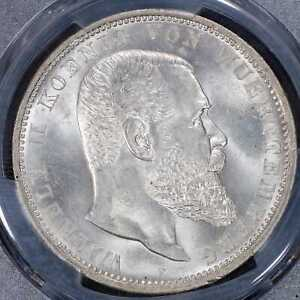 5 Mark 1907-F PCGS MS63 German Empire Württemberg CUNC Silver coin Rare Conditon