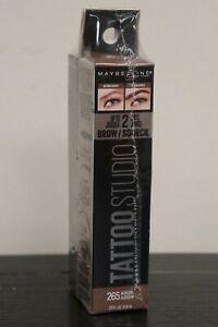 NEW 2 Pack Lot Maybelline Tattoo Studio WATERPROOF Eye Brow Gel # 265 Auburn
