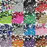 ACRYLIC RHINESTONES ROUND FLAT BACK GEMS NAIL ART CRAFT CARD TIPS DECORATION