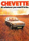 1975 Vauxhall Chevette 16-page Original Car Sales Brochure Catalog GM 1976
