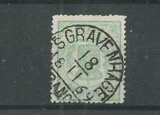 "Nederland 15 met ""s-GRAVENHAGE 1869"" halfrond VFU/gebr  CV 15++ €"