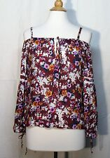NWT WAYF Clothing Floral Spring Cold-Shoulder Swingy Rayon Top Small S