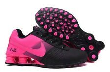 New Women Black and Pink Nike Shox Deliver Athletic Running Shoes