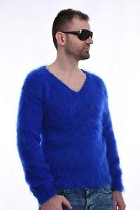 Men`s Hand Knitted Mohair  SWEATER  Spitz  handmade  Pullover 75