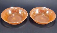 2 Fire King Peach Luster Laurel Berry Dessert Bowls