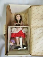 "Vintage Danbury Mint Doll Norman Rockwell Porcelin Young Ladies 12"" Nib"