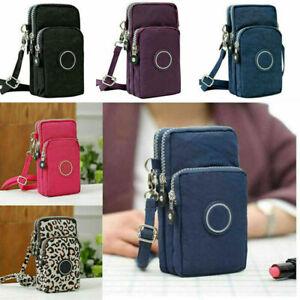 Women Cross-body Mobile Phone Shoulder Bag Pouch Case Handbag Purse Wallet UK