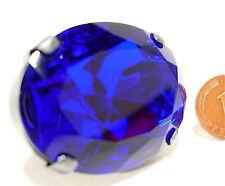 SoHo® Ring mit großem böhmischen Strassstein 40/30 oval royalblau kobalt blau