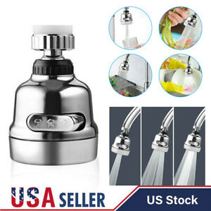3-Mode Faucet Movable Kitchen Tap Head Water Saving Nozzle Sprayer 360° Rotating