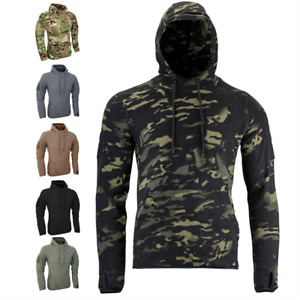Viper Armour Fleece Camo Hoodie Thermal Tactical Breathable Pullover Size S-3XL