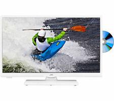 "JVC LT-24C656 Smart 24"" LED TV with Built-in DVD Player - White"
